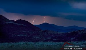 Буря със светкавици в сливенския балкан